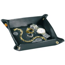 Royce Leather Travel valet jewelry tray in Vegan Leather