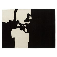 Chillida Hand-Woven Black/White Area Rug