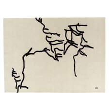 Chillida Hand-Woven Cream Area Rug