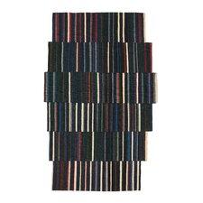 Lattice Hand-Woven Blue/Green Area Rug