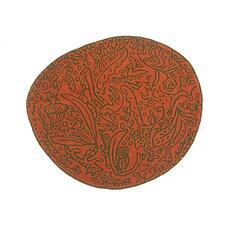 Bichos Y Flores Orange Area Rug