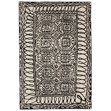 Black On White/Black Estambul Area Rug
