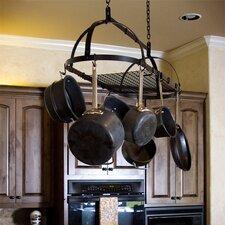 Ornamental Expandable Oval Hanging Pot Rack