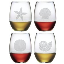 Scott Lake 21 Oz. Stemless Wine Glass (Set of 4)