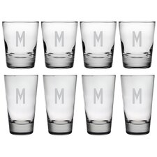 Block Monogram 8-Piece Tumbler Set