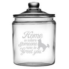 64 Oz. Someone Runs to Greet You Half Gallon Jar with Lid