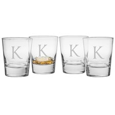 Monogram Double Old Fashioned Glass (Set of 4)