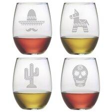 Fiesta Stemless Wine Glass (Set of 4)