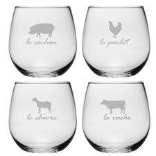 La Ferme Stemless Wine Glass