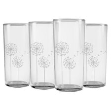 Dandelions Slim Hiball Glass (Set of 4)