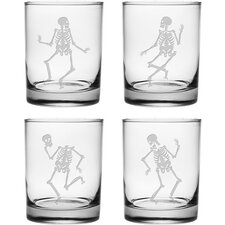 Dance of the Dead Old Fashioned Glass (Set of 4)