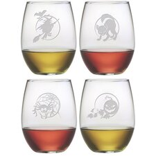 Halloween Stemless Wine Glass (Set of 4)