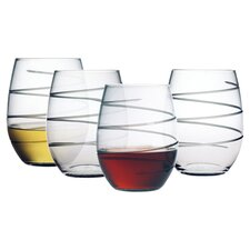 Spiral 21 oz. Stemless Wine Glass (Set of 4)
