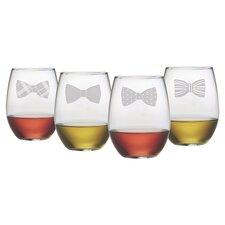 Bowtie 4 Piece Assorted Wine Glass Set