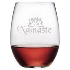 Namaste 4 Piece 21 oz. Stemless Wine Glass (Set of 4)
