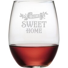 Home Sweet Home 4 Piece Stemless Wine Glass (Set of 4)