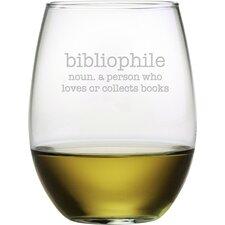 Bibliophile 4 Piece Stemless Wine Glass (Set of 4)
