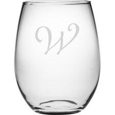 Personalized 4 Piece 21 Oz. Stemless Wine Glass (Set of 4)