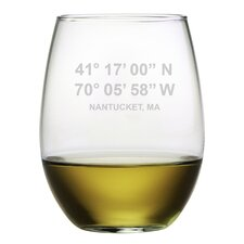Nantucket Coordinates 4 Piece 21 oz. Stemless Wine Glass (Set of 4)
