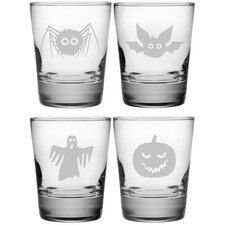 Scary Creatures Double Old Fashioned Glass (Set of 4)