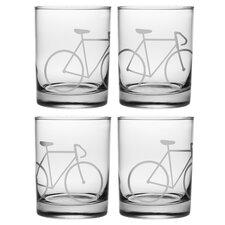 Bicycle 14 Oz. Rocks Glass (Set of 4)