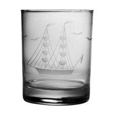 Clipper Ship Hand-Cut Rocks Glass (Set of 4)