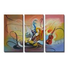 Radiance Neva 3 Piece Graphic Art on Canvas Set