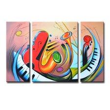 Radiance Tasia 3 Piece Graphic Art on Canvas Set