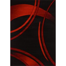 Sofia Black/Red Area Rug