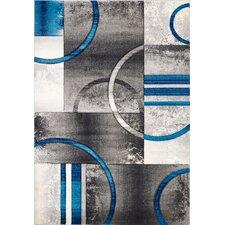 Sofia Gray/Turquoise Area Rug