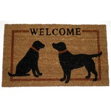 Two Dogs Welcome Doormat