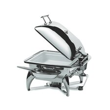 Square Chafing Dish with Stainless Steel Lid and Base