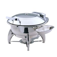 Medium Round Chafing Dish with Glass Lid and Base