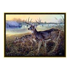 Wildlife Boy's Club Brown Novelty Oudoor Area Rug