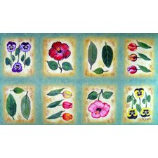 Botanical Flower Tiles Doormat