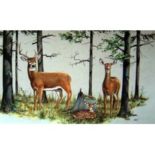 Deer Family Doormat
