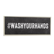 Wash Your Hands Hashtag Bathroom Wall Plaque