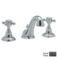 Country Double Handle Widespread Bathroom Faucet with Pop-Up Drain and Cross Handle