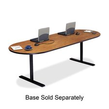 """Racetrack Conference Table,42""""x96""""x29"""",Wild Cherry"""