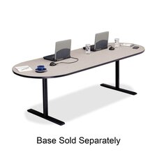 """Racetrack Conference Table,42""""x120""""x29"""",Gray Nebula"""
