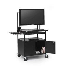 Cab AV Cart with Laptop Shelf for Flat Panels