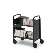 Double-Sided Book Cart