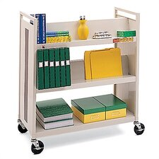 Double-Side Book Cart
