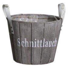Runder Blumentopf Schnittlauch