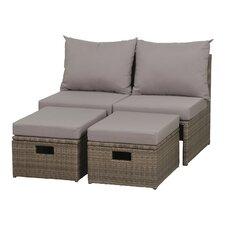 4-tlg. Sofa Bastia Eco Box mit Kissen