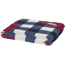 Eco Designer Lobster Picnic Throw Blanket