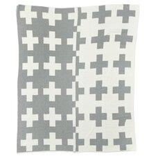 Reversible Swiss Cross Split Throw Blanket