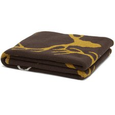 Eco Designer Stag Longhorn Throw Blanket