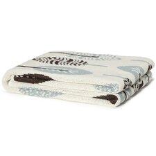 Eco Designer Mod Leaf Cotton Throw Blanket