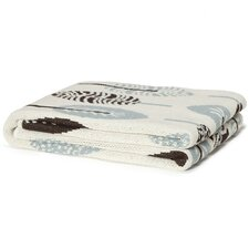 Eco Designer Mod Leaf Cotton Throw Blanket